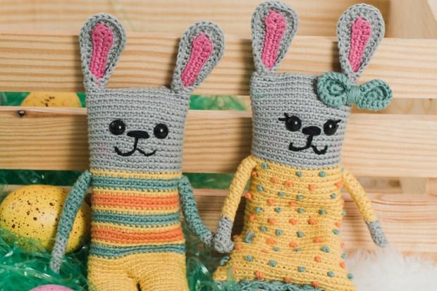 Lavender Beanie Bag Amigurumi Bunnies I Like Crochet