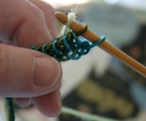 Tunisian Crochet: Carrying Up Color 2