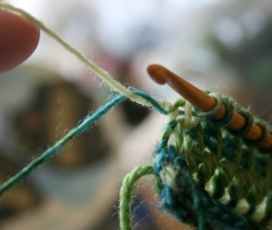Tunisian Crochet: Carrying Up Color 6