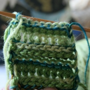 Tunisian Crochet: Carrying Up Color