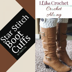 Star Stitch Crochet Boot Cuffs