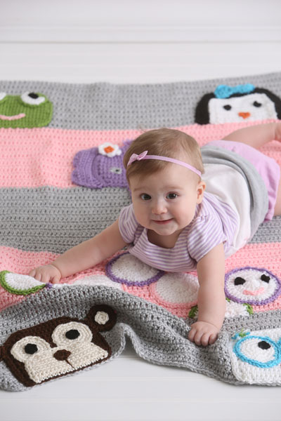 You can make this absolutely adorable animal afghan once you know the double crochet decrease