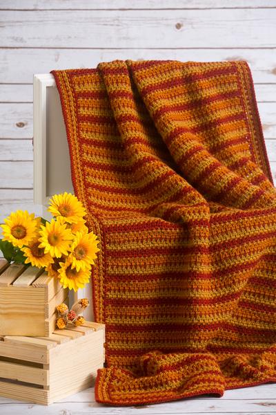 Autumn Zig Zag Throw I Like Crochet