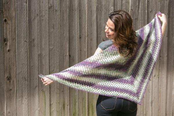 Beginner S Crochet Triangle Shawl I Like Crochet