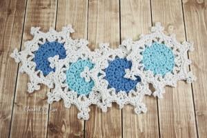 Snowflake Coasters (taken with Olympus digital camera)