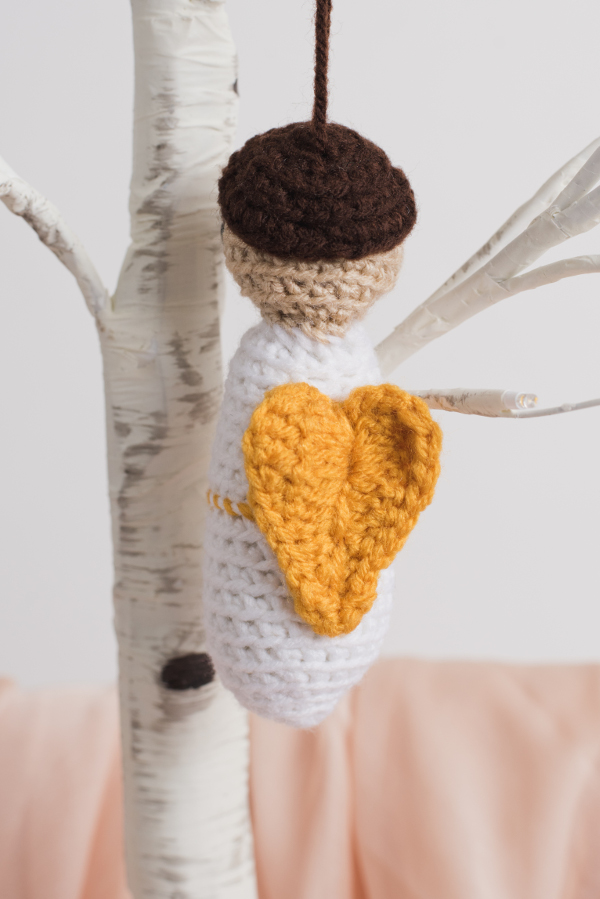 Cherub Crochet Ornament