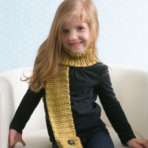 Children's Crochet Pocket Scarve Pattern