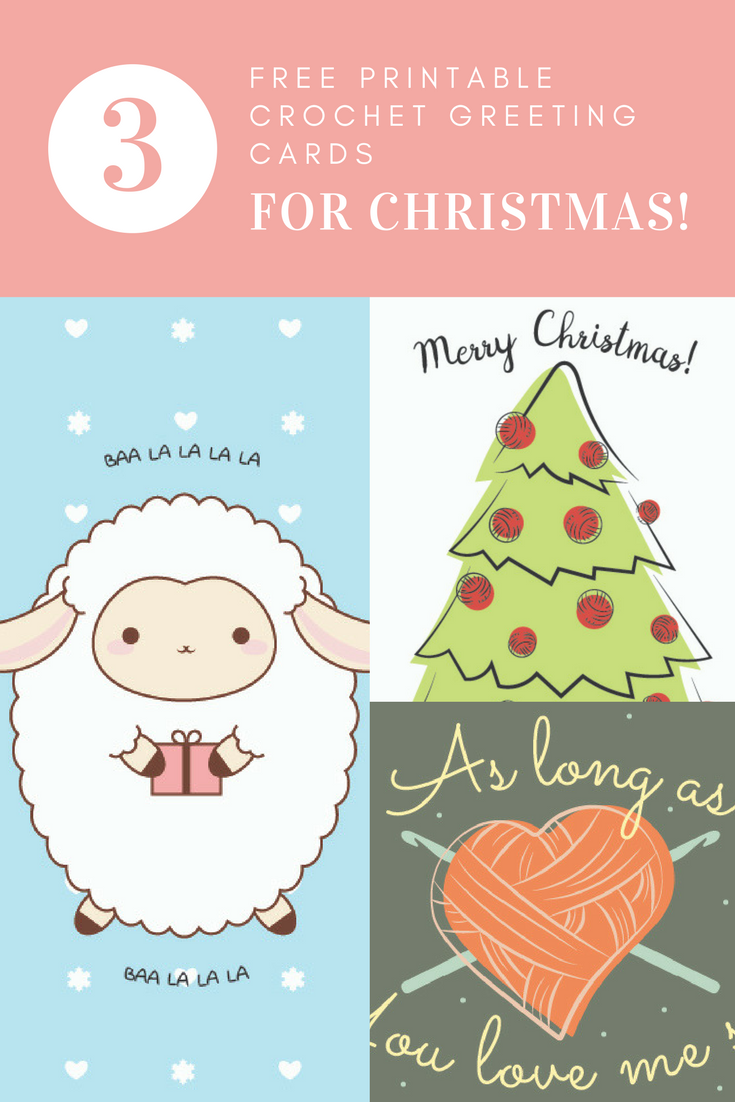 Free printable crochet greeting cards for christmas i like crochet we here at i like crochet hope you have a safe happy and healthy holiday season crochet every stitch with love and hopefully these cards will put a smile m4hsunfo