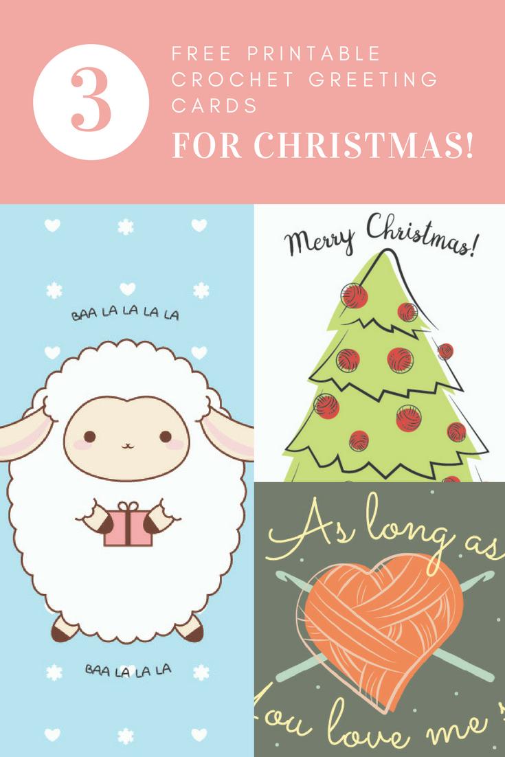Free Printable Crochet Greeting Cards for Christmas! - I Like Crochet