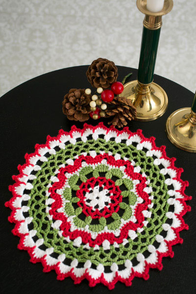 Christmas Is Coming Crochet A Lace Doily With Holiday Spirit I