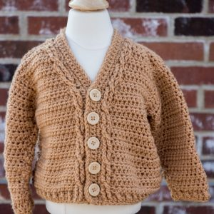 Classic Cables Toddler Cardigan