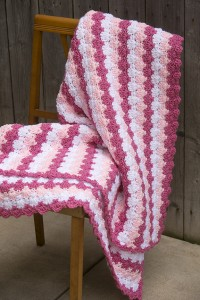 Criss Cross Crochet Shells Throw