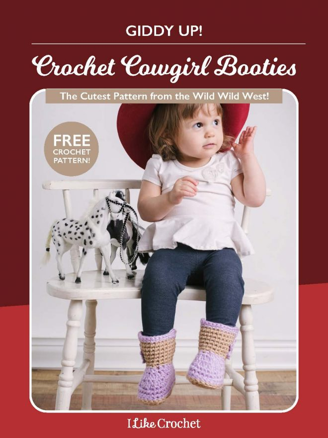 Giddy up! Get Our Free Crochet Cowgirl Booties Pattern