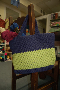 Held double Phoenix by Ella Rae crochets up beautifully into a beach tote made from this store pattern.