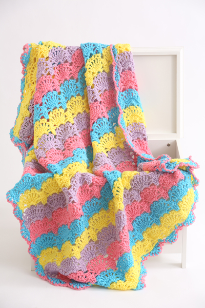 Fiesta Crochet Shell Stitch Afghan I Like Crochet