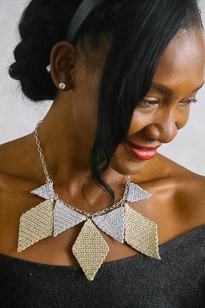geometric glam necklace