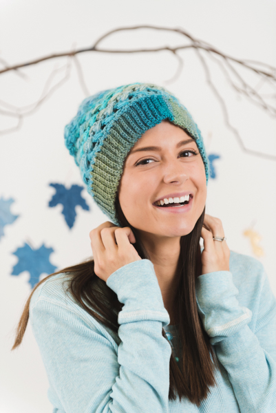 glacial ice slouch hat