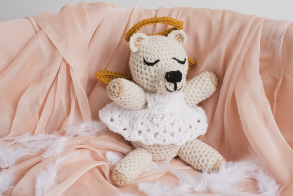 Gloria the Angel Bear Amigurumi