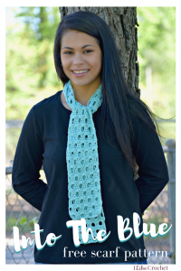 This Into the Blue Free Scarf Pattern includes instructions on how to crochet left handed for beginners