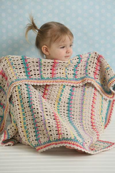Modern Lace Baby Blanket I Like Crochet