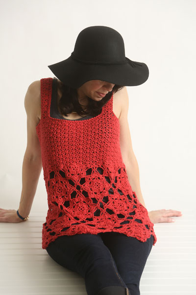 rad in red tank