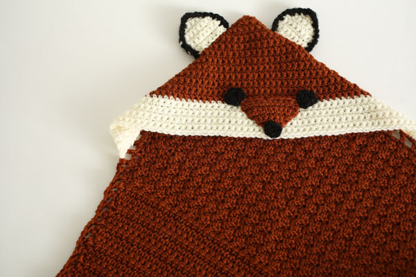 Fairytale Fox Hooded Blanket I Like Crochet