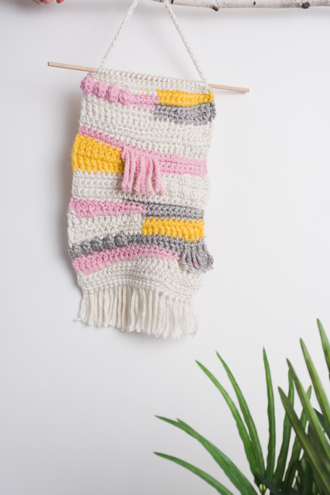 Modern Crochet Wall Hanging
