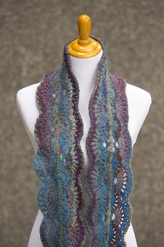 Moonlit Waves Infinity Scarf I Like Crochet