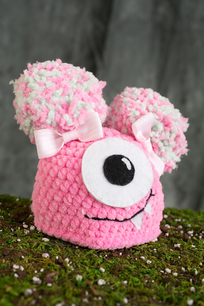 Newborn Fuzzy Monster Hat I Like Crochet