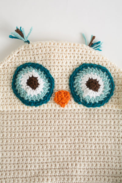 Owl Crochet Hooded Blanket