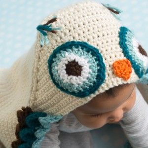 Owl Hooded Baby Blanket