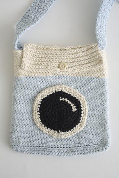 Say Cheese Camera Crochet Bag 1