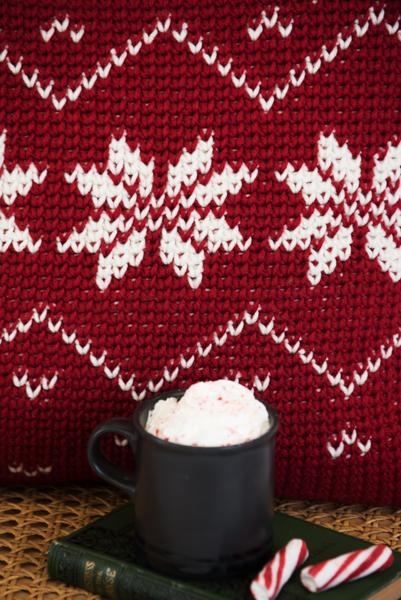 Snow Queen Fair Isle Pillow Cover I Like Crochet