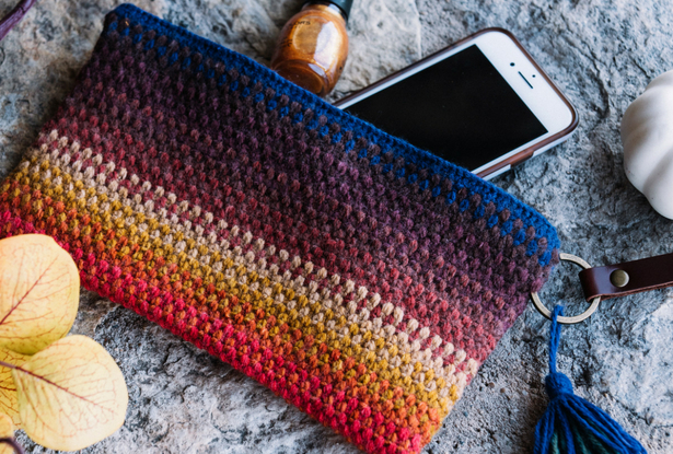 Spice Of Life Striped Clutch Lion Brand Yarn Giveaway I Like Crochet