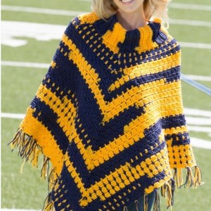 Sporty Crochet Poncho