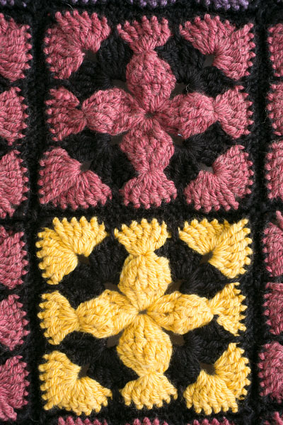 Stained Glass Granny Square Pattern