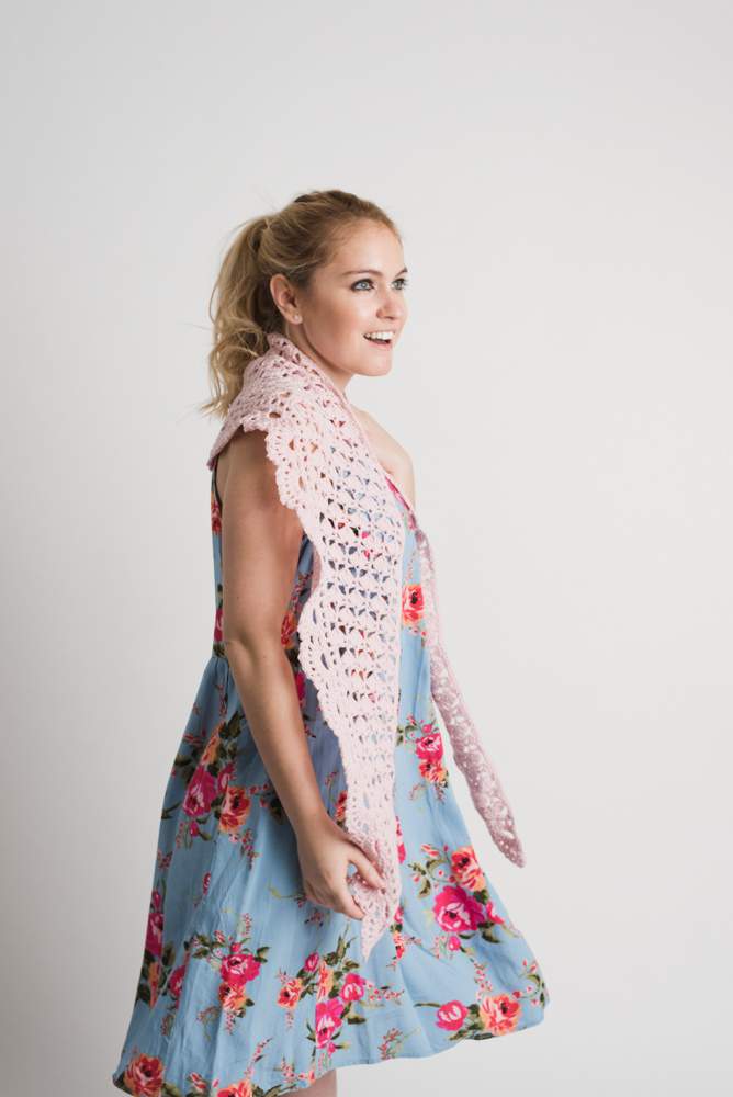 Sunset Breeze Crescent Lace Shawl
