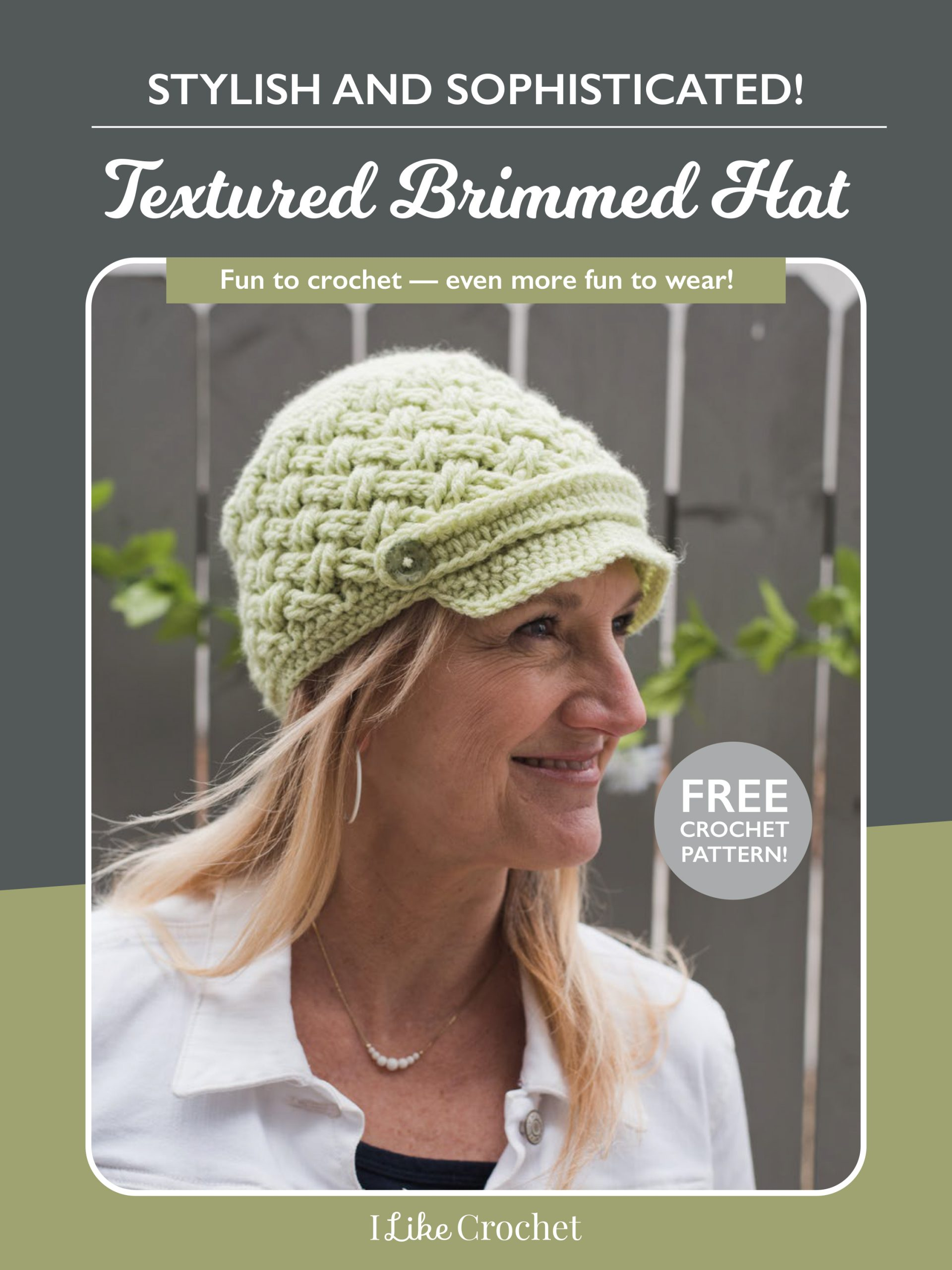 Brimming with Style: Free Crochet Hat Pattern