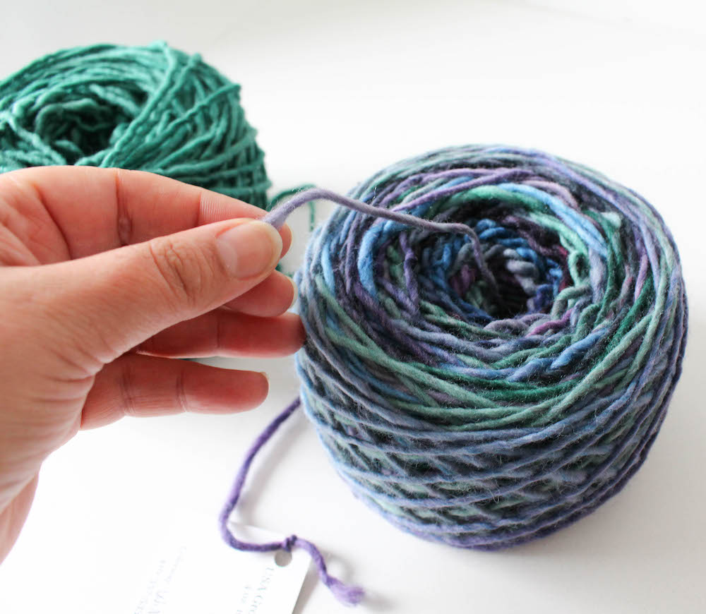 How to Wind Yarn into a Cake by Underground Crafter for I Like Crochet 14
