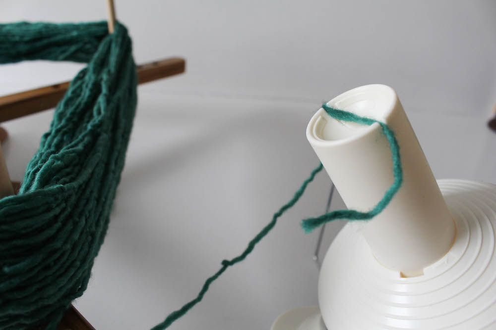 How to Wind Yarn into a Cake by Underground Crafter for I Like Crochet 8