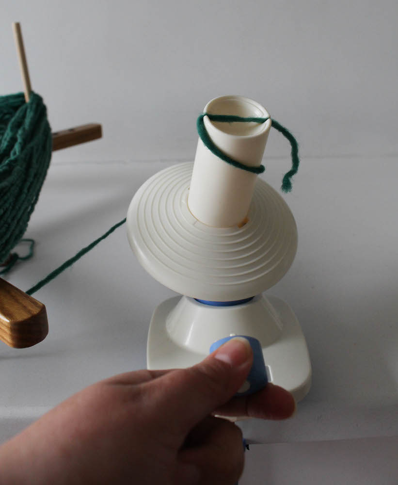 How to Wind Yarn into a Cake by Underground Crafter for I Like Crochet 9
