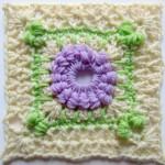 Crochet hydrangea shrub