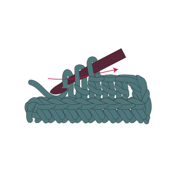 double crochet step 4