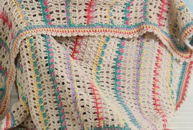 1854d2c09 Modern Lace Baby Blanket - I Like Crochet