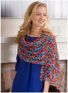 happy crochet shawl