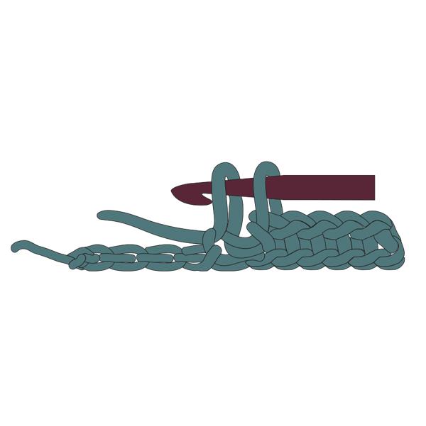 single crochet step two
