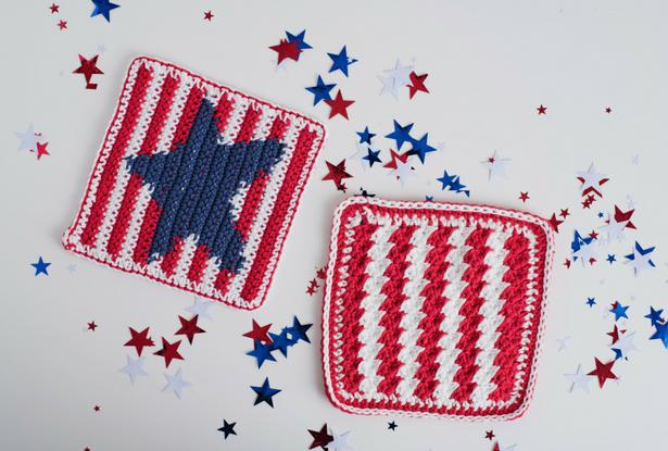 Star Spangled Dishcloth I Like Crochet