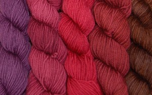 Frabjous Fibers Wonderland Yarns Mad Hatter Sport Weight Gradient kits are available in a wide range of colors and are conveniently packed up in groups of five for a quick fix of color.